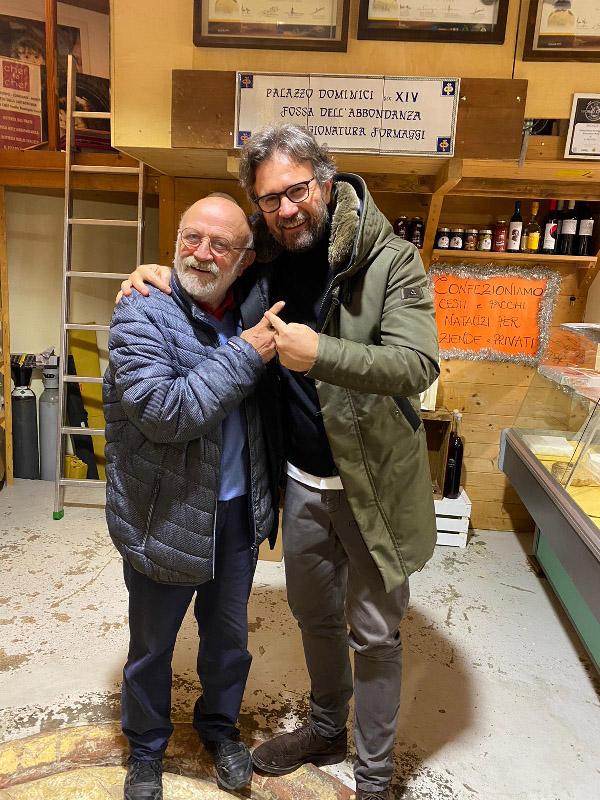 Carlo Cracco in visita a Roncofreddo